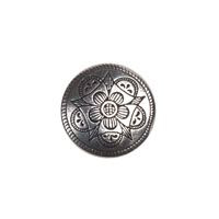 H�ndst�pte Knapper Intricate Flower Burst Pewter Button 13MM 1/2""