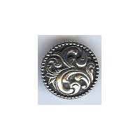 Aase Middel Button - Solid Pewter