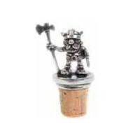 Viking Warrior with Axe Pewter Cork Screw