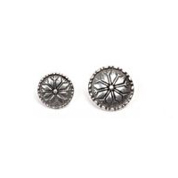 Selbu Knapp - Flower/Snowflake Pewter Button 16MM - 5/8""