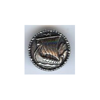 Oseberg Viking Ship Pewter Button 22MM - 7/8""