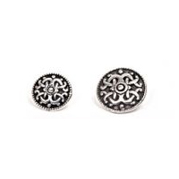 "Fr�y Ornate Viking Design Pewter Button 13/16"" - 20MM"