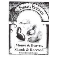 Whimsical Sewing Projects -  Mouse, Beaver, Skunk and Raccoon (Forest Friends Series) Pattern