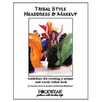 Belly Dance - Tribal Style Headdress and Make Up Book