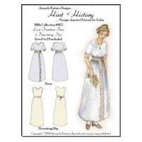 1910's Lace Insertion Dress & Drawstring Slip Pattern