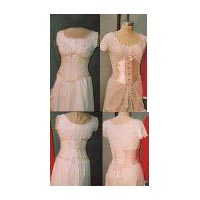 1894-1909 Victorian and Edwardian Ribbon Corset, Corset Girdle and Man's Corset
