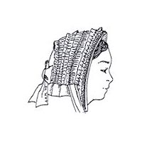 1860s Drawn Bonnet Pattern by Miller's Millinery