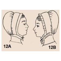 1700s to 1820s Extended Frill Cap Pattern