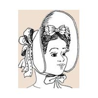 1834-1840 Fashionable Bonnet Pattern by Miller's Millinery
