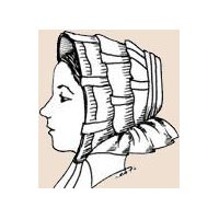 1850's Flounced Bonnet Pattern