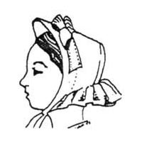 1850's to 1860's Low Brim Bonnet Pattern by Miller's Millinery