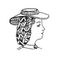 1840s to 1870s Low Crown Hat Pattern