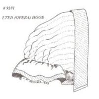1850 to 1860's Quilted Opera Hood Pattern