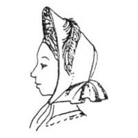 1862-64 High Brim Bonnet Pattern by Miller's Millinery