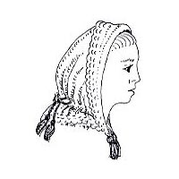 1860s Knit Twilight Hood Pattern by Miller's Millinery