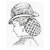 1800's Crochet Hair Net Pattern by Miller's Millinery