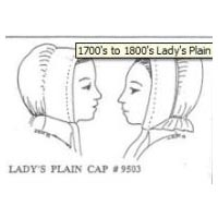 1700's to 1800's Lady's Plain Cap Pattern