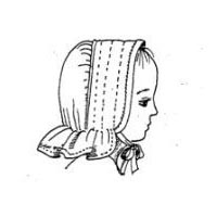 1800s Child's Quilted Bonnet Pattern