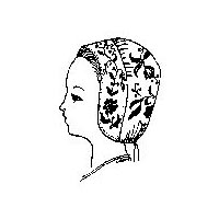 1700's to 1800's Embroidered Cap Pattern by 1800s Child's Quilted Bonnet Pattern by Miller's Millinery