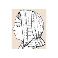 1840's to 1870's Mid-Century Lady's Soft Bonnet Pattern