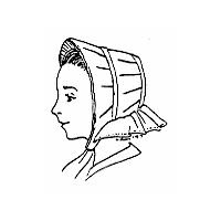 1850s to 1865 Flared Brim Bonnet Pattern by Miller's Millinery