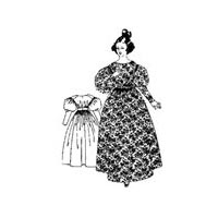 1830s Full High Gown Pattern