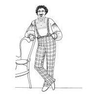 1843-1856 Men's Winter Trousers Pattern