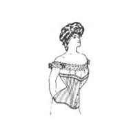 "1901-1908 ""Straight-Fronted"" Edwardian Corset Pattern"
