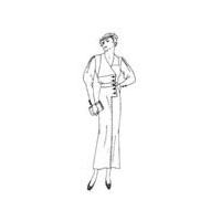 1933-34 Flap Collar Dress Coat