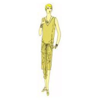 Slip-Over, One-Piece Frock Documented to 1926