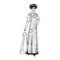 1910 Lady's One-Piece Kitchen Apron Pattern