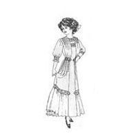 1910-11 Misses' Panel Dress Pattern