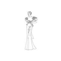 1933-35 Floor Length Evening Gown