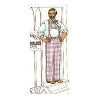 1850's Classic Plain-Cut Summer Trousers of the Mid-19th Century Pattern