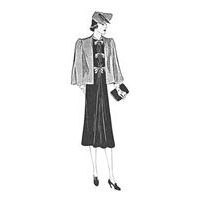 1937 Dress with Cape