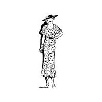 1935 Summer Party Dress