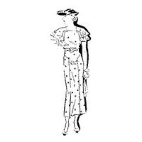 1935 Summer Belted Dress
