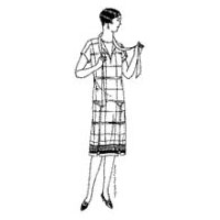 1928-29  Ladies' and Misses Dress with Kimono Sleeves