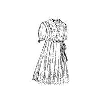 1914 Girls' Empire Dress with Surplice Waist Pattern