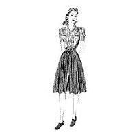 1940 Misses' Blouse, Shorts and Skirt
