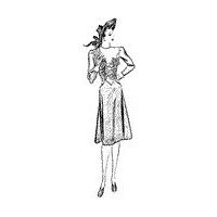 1940-44 Misses' Dress with Gathered Waist