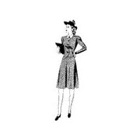 1940-41 Misses' and Women's Two-Piece Dress