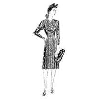 1941-42 Misses' and Women's Dress with Heart-Shaped Neckline