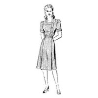 1940 Misses' and Women's Square-Neck Dress