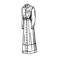 1910-1911 Semi-Princess Dress for Misses' or Small Women Pattern
