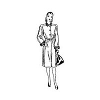 1940-41 Misses' and Women's Full Length Fitted Coat