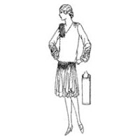 1927-28 Ladies' V-neck Long-Waisted Dress Pattern