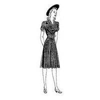 1941 Misses' Dress with Pleated Skirt