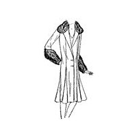 1930 1931 Princess Coat with Fur Collar and Cuffs Pattern