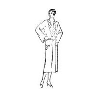 1928 Ladies' and Misses' Negligee Pattern